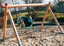 Hally-Gally Spielplatzgerät Vogelnest 2-Punkt-Aufhängung Vogelnestschaukel