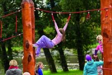 Huck Seil-Parcours Modul Halteschlaufen Aufhängungen Spielplatzanlage f.Robinie
