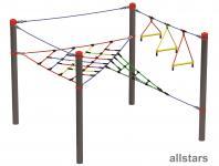 HUCK Vario-Element 1 für Robinie-Pfosten Hangelseile + Kletternetze öffentlicher Spielplatz