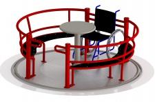Beckmann Rollstuhlkarussell Karussell Spielplatz Behindertenkarussell