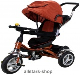 Actionbikes Kinderwagen Kinderkarre Kinder-Karre Kinder-Buggy Kinder-Dreirad braun