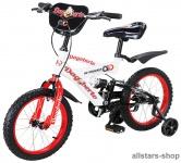 Actionbikes Kinderfahrrad Kinder-Fahrrad - Dagoberto - 12 Zoll rot-weiß Bike Stützräder Mädchen Jungen für Kindergarten