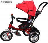 Allstars Kinderkarre Kinderwagen 7 Funktionen Kinderbuggy rot