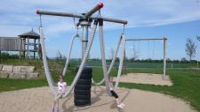 Hally-Gally Spielplatzgeräte Karussell Lianen-Schaukel Mini Kletterturm Schaukel