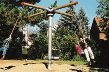 Hally-Gally Karussell Pendelsitz-Kombination Mini-Kletterturm Pendelsitzkarussell