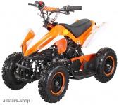 Actionbikes Kinderauto Poketquad Miniquad Racer 49 cc Motor-2-takt-Quad orange-weiß