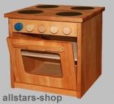 Schöllner Ofen Backofen für Kinderküche Spielküche Star Maxi aus Holz mit Herdplatten für Kindergarten