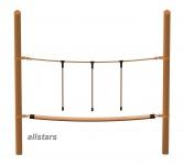 HUCK Vario-Element 3 Hangelseil für Robine Pfosten öffentlicher Spielplatz