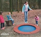 Hally-Gally Trampolin Circus Simplex Spielplatzgeräte gewebearmierte Sprungmatte
