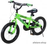Actionbikes Kinderfahrrad Kinder-Fahrrad - Zombie - 16 Zoll grün-schwarz