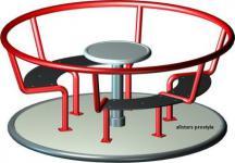 Beckmann Karussell 1 Kinderkarrussel mit Bänken
