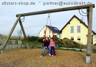 Hally-Gally Spogg Schaukel Vogelnestschaukel Reiherhorst D = 120 cm mit Schaukelgestell extra lang