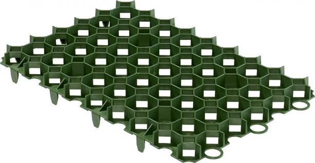 (ab 18, 96 EUR/qm) Rasenwabe 56 x 38 cm grün aus Kunststoff für Bodenbefestigung ohne Versiegelung von Hofeinfahrten, PKW-Stellplätzen und Carports