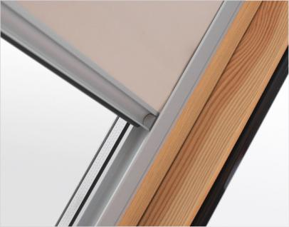Verdunklungsrollo RUR weiß, beige oder dunkelblau Größe C2A, F6A oder M6A Innenrollo mit 100%iger Verdunkelungswirkung für Dachfenster, Verdunkelungswirkung, Rollo, - Vorschau 3