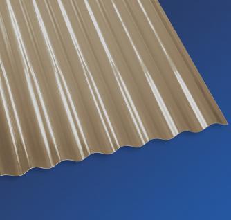 PVC Wellplatten Sinus 32/9 Kleinwelle bronce 2000 x 750 mm Lichtplatten Profilplatten