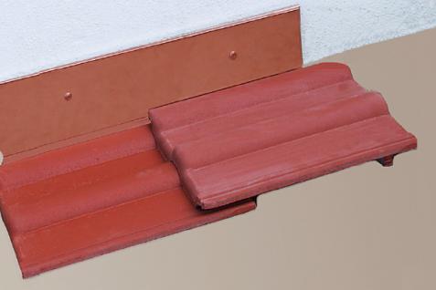 Vario Wandanschluss Seite Titanzink oder Kupfer 1, 15 m rechts oder links