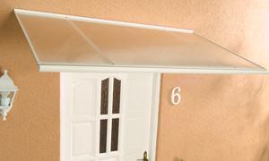 Alu-Pultvordach Haustürvordach Vordach Standard weiß