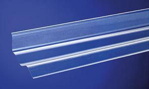 Maueranschluss Sinus 76/18 für seitliche Wandanschlüsse, nur für PVC Wellplatten Sinus 76/18, Länge 900 mm - Vorschau