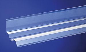 Maueranschluss Trapez 70/18 für seitliche Wandanschlüsse nur für PVC Wellplatten Trapez 70/18 Länge 1090 mm - Vorschau
