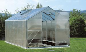 Gartentec Aluminium Gewächshaus Typ F6 10, 17qm, 6 mm - Vorschau 5