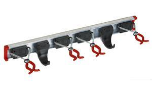 Freund Gerätehalter Set 0, 5 m Alu-Führungsschiene mit 4 Gerätehaltern und 2 Kunststoffhaken 68120