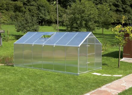 Gartentec Aluminium Gewächshaus Typ F6 10, 17qm, 6 mm