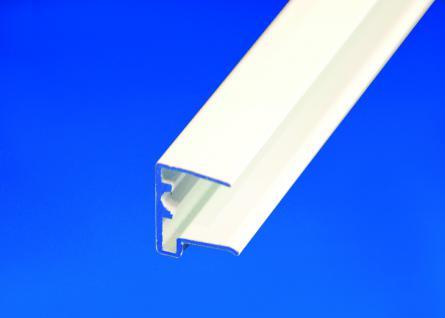 Alu-U-Abschlussprofil für 10 mm Stegplatten weiß Länge: 1050 mm