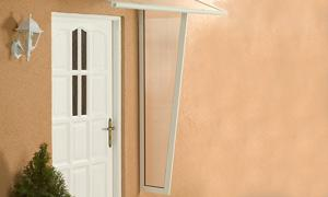 Alu-Seitenblende für Pultvordach Haustürvordach Standard weiß