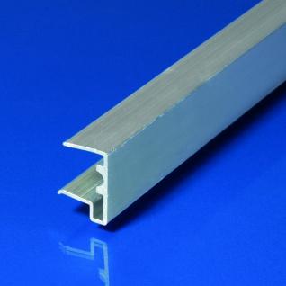 Alu-U-Abschlussprofil für 16 mm Stegplatten silber Längen: 980/1200 mm