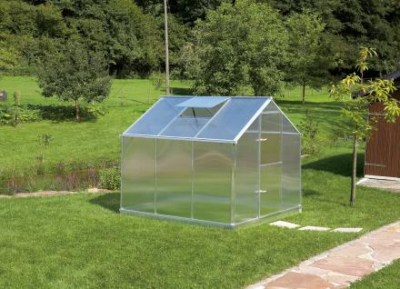 Gartentec Aluminium Gewächshaus Typ F3 5, 18 qm, 6 mm