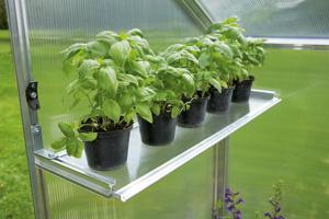 Gartentec Hängeboard Regal für Gewächshaus Typ F2 bis F6