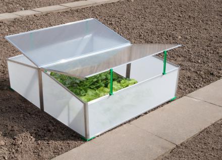 Gartentec Aufzucht Frühbeet Doppelt 1, 14 qm 4 mm starke Spezial-Hohlkammerscheiben