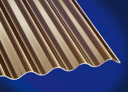 Polycarbonat Wellplatten Lichtplatten Profilplatten Sinus 76/18 wabe bronce 2, 6 mm