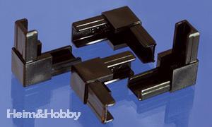 Eckverbinder für Kunststoff Bastelplatten 4er Beutel