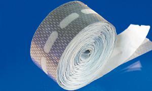 Kantenverschlussband 42 mm x 15 m mit Membranen für Stegplatten 16 mm