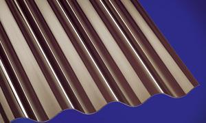 Polycarbonat Wellplatten Lichtplatten Profilplatten Sinus 76/18 bronce