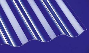Polycarbonat Wellplatten Lichtplatten Profilplatten Sinus 76/18 klar