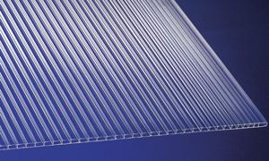 Polycarbonat Stegplatten 4, 5 mm klar 2000 x 1050 mm