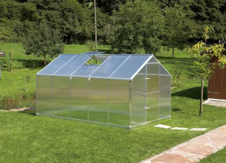 Gartentec Aluminium Gewächshaus Typ F5 8, 49 qm, 6 mm