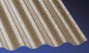 Acryl Wellplatten Lichtplatten Profilplatten Sinus 76/18 C-Struktur bronce 3 mm - Vorschau