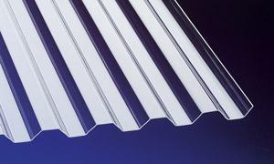 Acryl Wellplatten Lichtplatten Profilplatten Trapez 76/18 klar 1, 5 mm - Vorschau 1