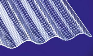 Acryl Wellplatten Lichtplatten Profilplatten Sinus 76/18 wabe klar 3 mm