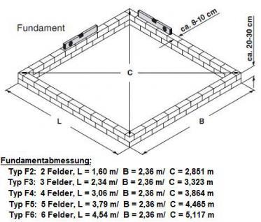 Gartentec Aluminium Gewächshaus Typ F2 3, 5 qm, 6 mm - Vorschau 5
