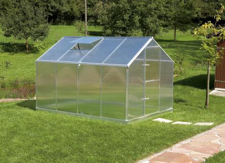 Gartentec Aluminium Gewächshaus Typ F4 6, 81 qm, 6 mm