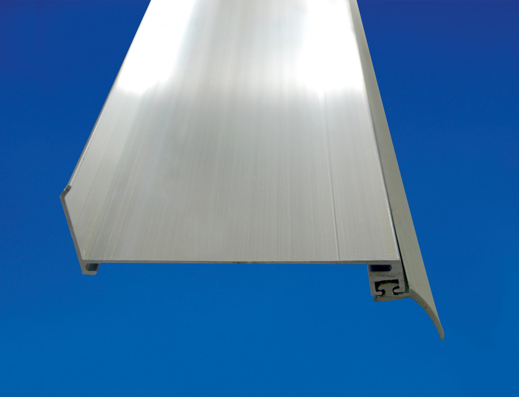 aluminium wandanschluss f r flexible wandanschl sse und zur abdichtung an der hauswand l nge 2. Black Bedroom Furniture Sets. Home Design Ideas