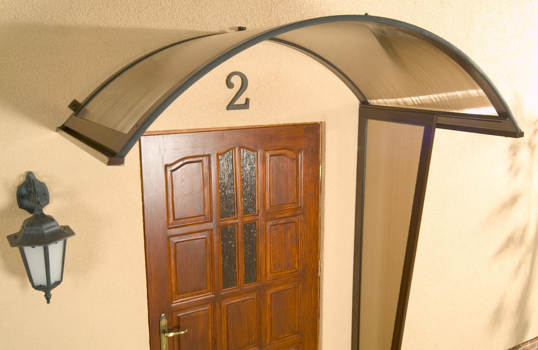 Alu rundbogenvordach haust rvordach vordach rondo braun - Vordach kaufen ...
