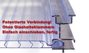 Gartentec Aluminium Gewächshaus Typ F6 10, 17qm, 6 mm - Vorschau 3