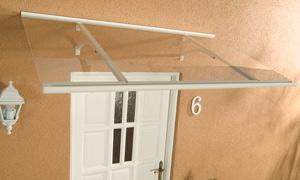 Alu-Pultvordach Haustürvordach Vordach Klassik weiß