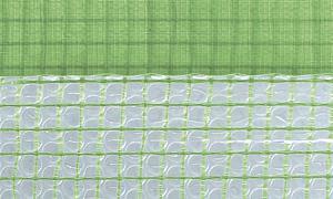 Gitterfolie mit Luftpolster und Nagelrand 1,5 x 25 m Rolle grün-transparent, mit Gitterarmierung, UV-stabilisiert, Abdeckfolie, Gitterplane 4,45 EUR/qm - Vorschau