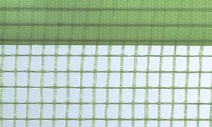 Gitterfolie mit Nagelrand 1, 5 x 50 m Rolle grün-transparent, mit Gitterarmierung, UV-stabilisiert, Abdeckfolie, Gitterplane